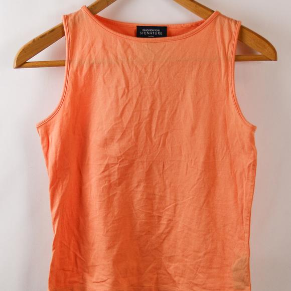 31d1be88919 Jones New York Womens Orange Tank Top